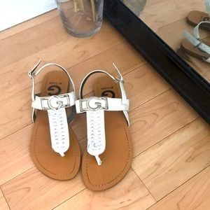 White Guess sandals